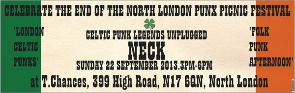 Neck North London Punx Picnic 2013 gig