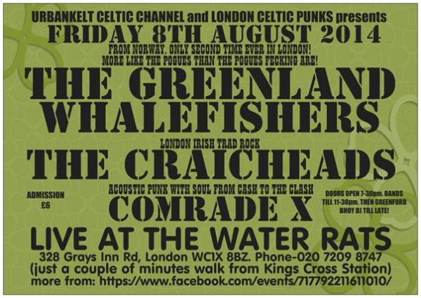 GREENLAND WHALEFISHERS live in London