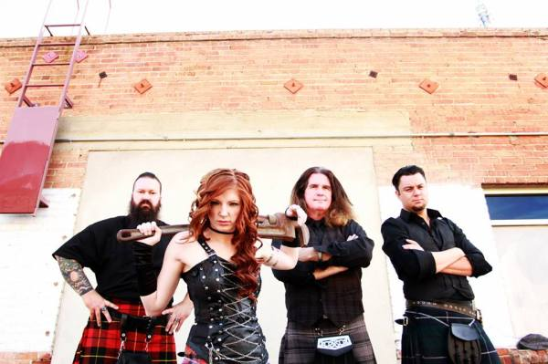 Left to right is: Walter Baldwin (Drums), Chelsea Joy (Highland Pipes, Whistles, Vocals), Douglas Kirk (Bass Guitar, Vocals), Rich Cheney (Guitars, Mandolin, Vocals).